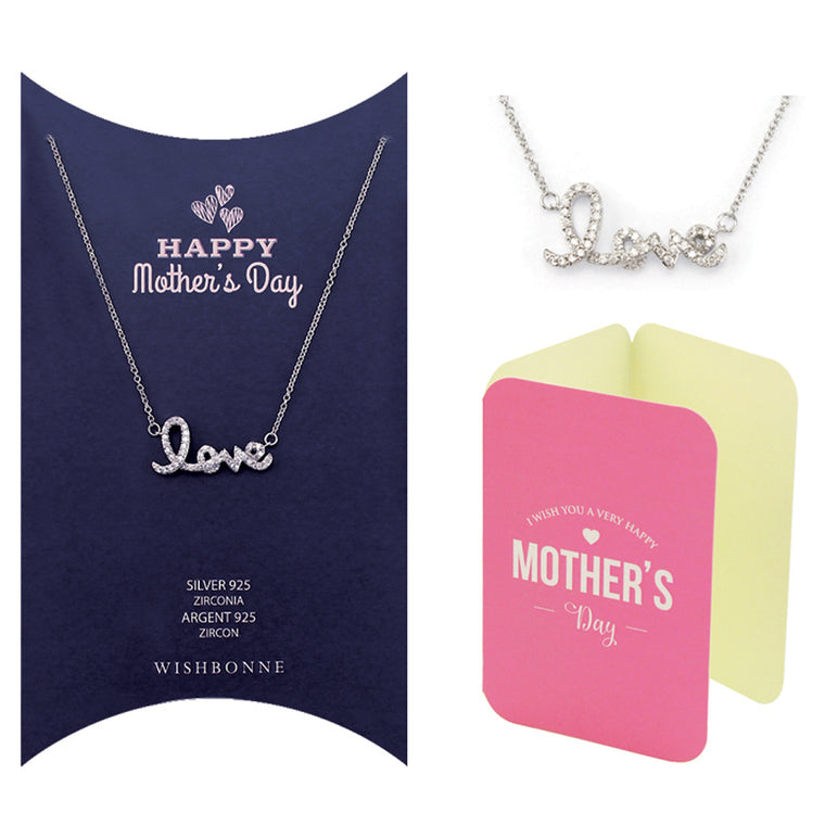Perfect Gift for Mom Love Pendant Necklace Message Card Included