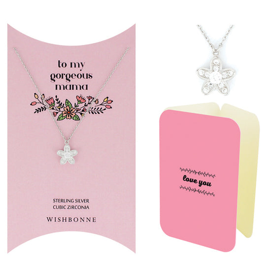 Perfect Gift for Mom Flower Necklace Message Card Included