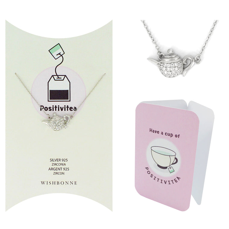 Perfect Gift for anyone Teapot Pendant Necklace Message Card Included