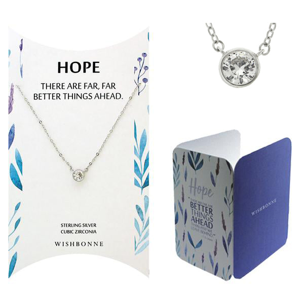 Perfect Gift for Anyone Bezel Stone Necklace with Message Card Included