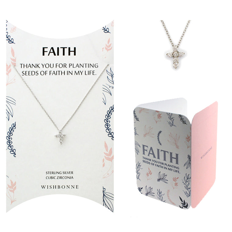 Perfect Gift for Anyone Cross Necklace with Message Card Included
