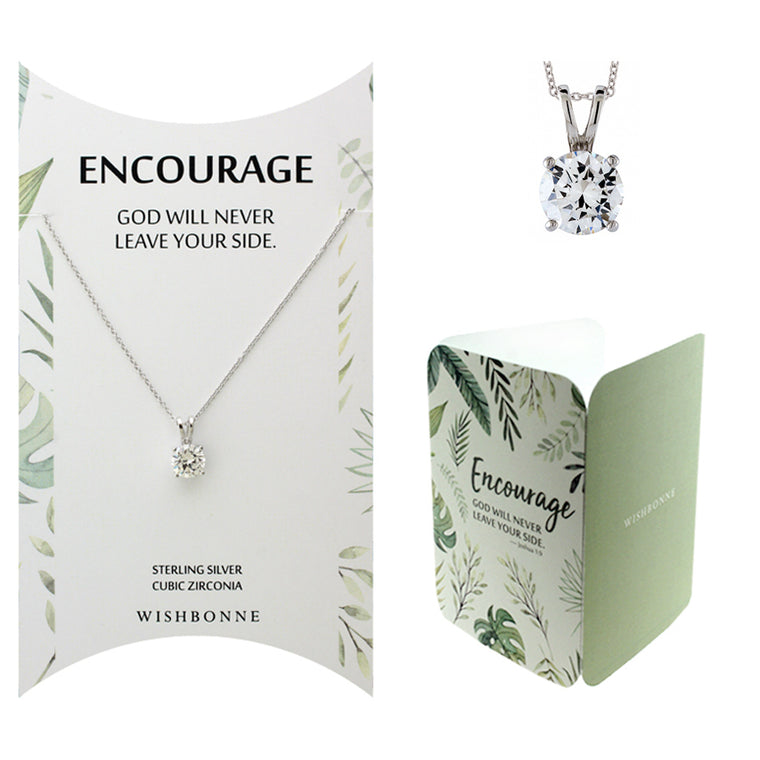 Perfect Gift for Anyone Solitaire Pendant Necklace with Message Card Included
