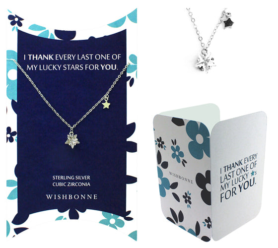 Perfect Gift for anyone Bright Star Solitaire Necklace Message Card Included
