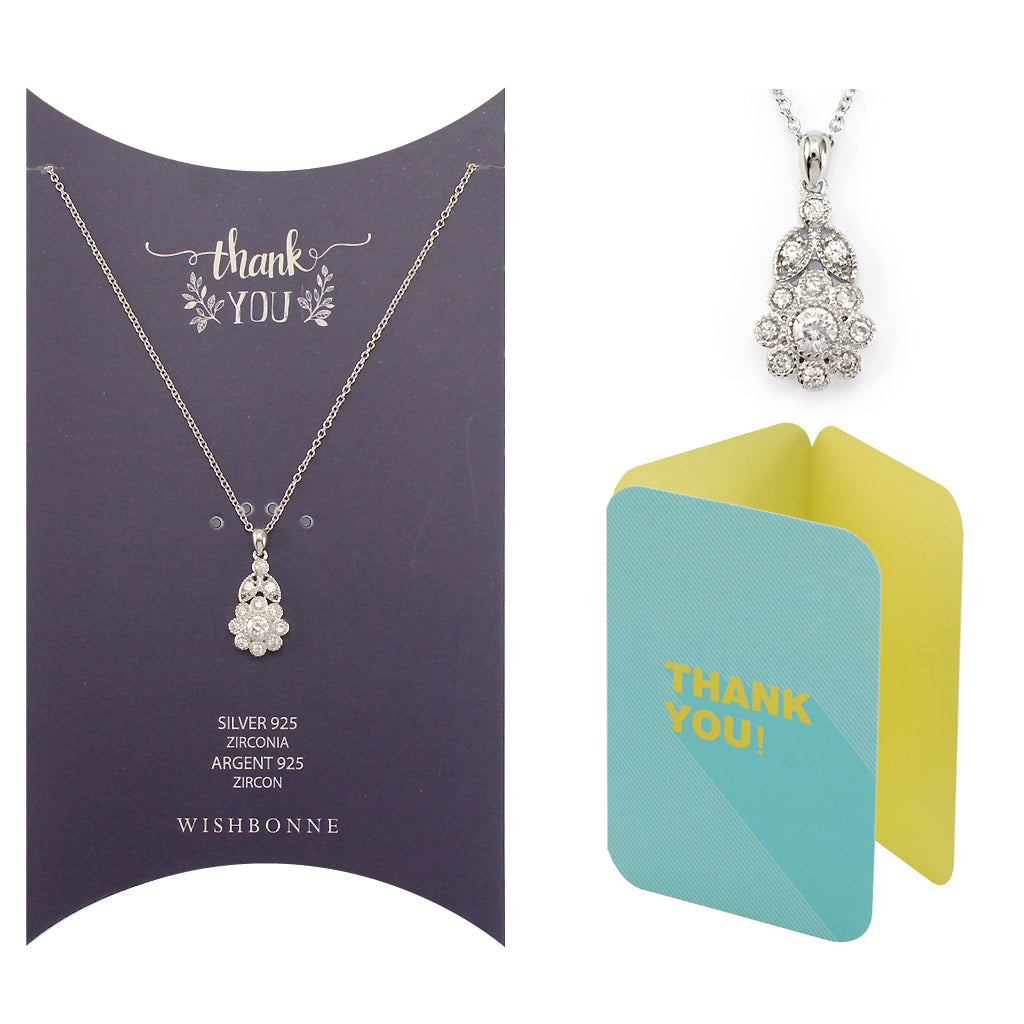 Perfect Gift for anyone Flower Pendant Necklace Message Card Included