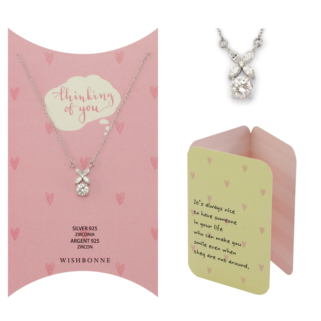 Perfect Gift for anyone XO Pendant Necklace Message Card Included