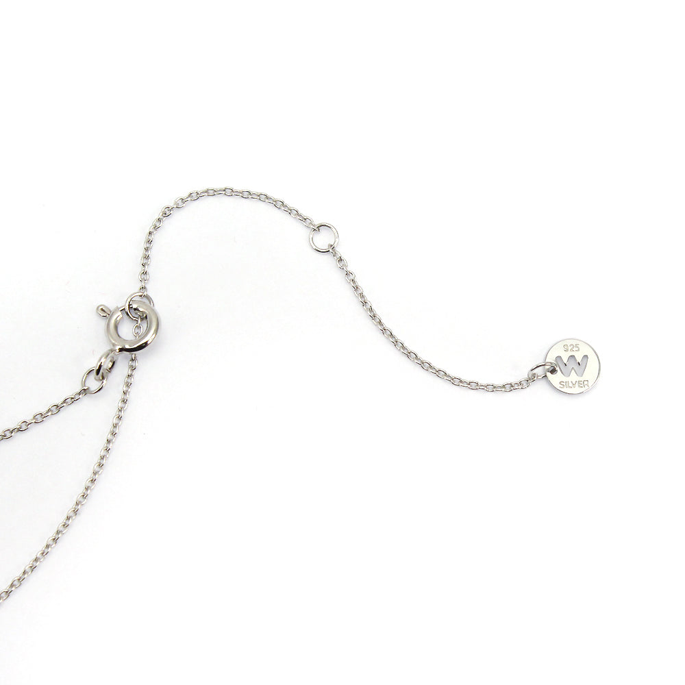 Sterling Silver Heart Drop Necklace