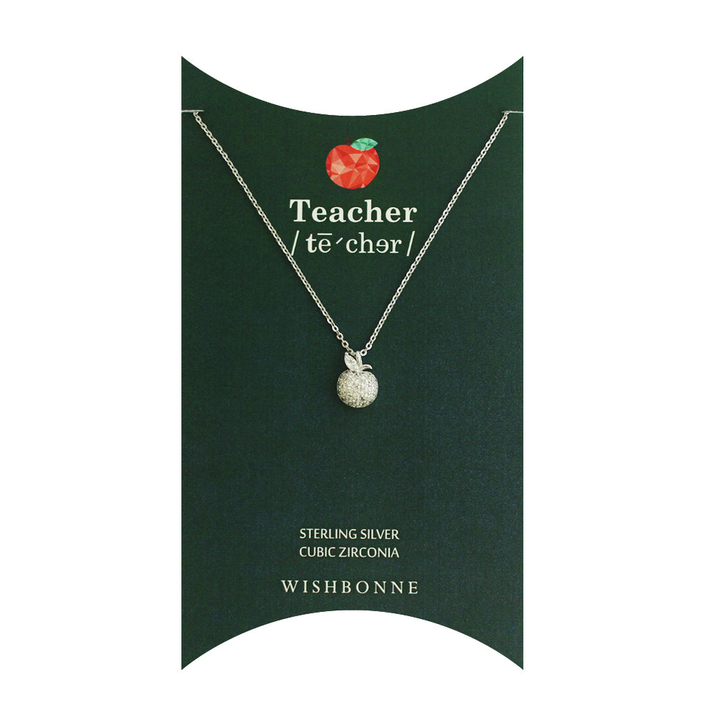 Sterling Silver Shiny Apple-Polisher Necklace
