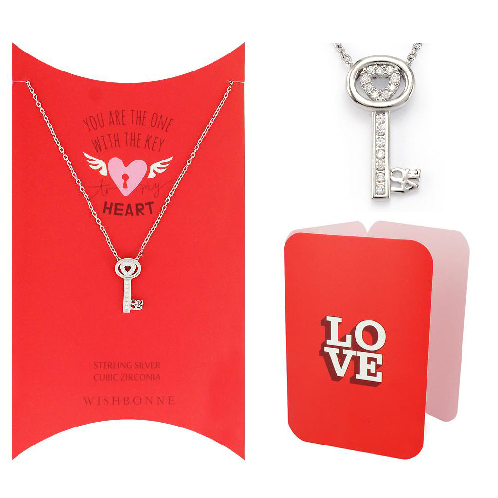 Perfect Gift for Loved One Key Pendant Necklace Message Card Included