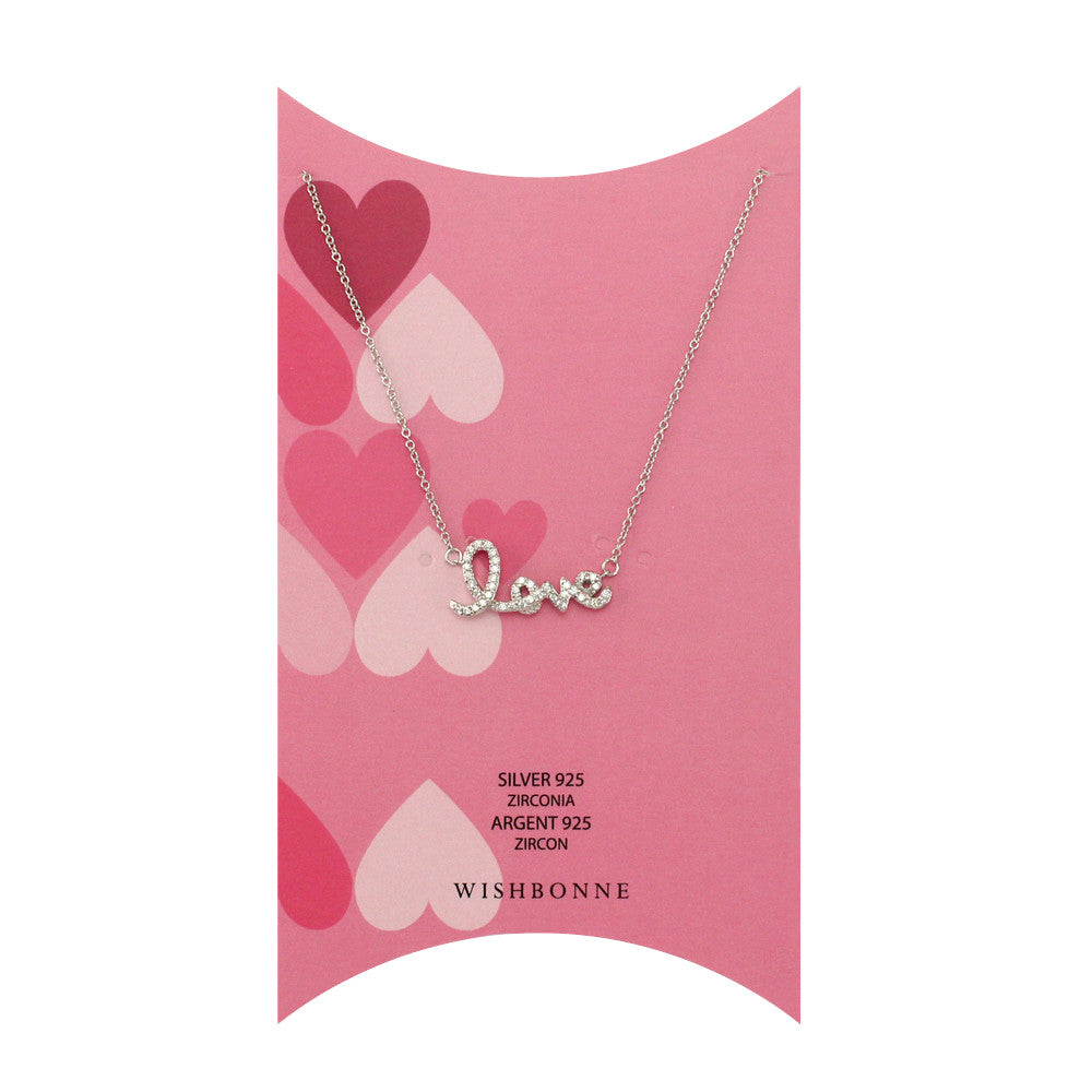 Perfect Gift for Valentine's Love Pendant Necklace Message Card Included