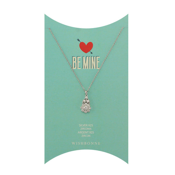 Perfect Gift for Loved One Flower Pendant Necklace Message Card Included