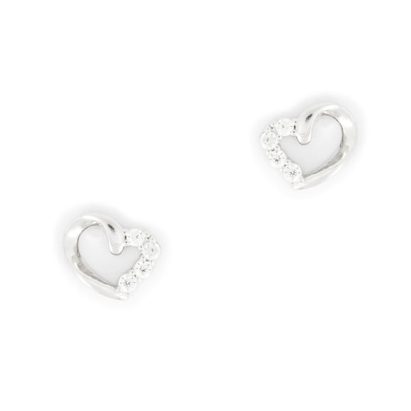 Sterling Silver Accent Heart Earrings