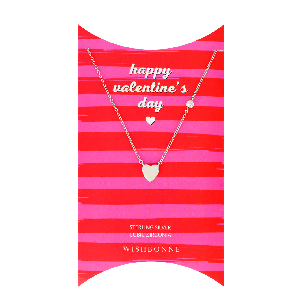 Perfect Gift for Valentine's Heart Necklace Message Card Included
