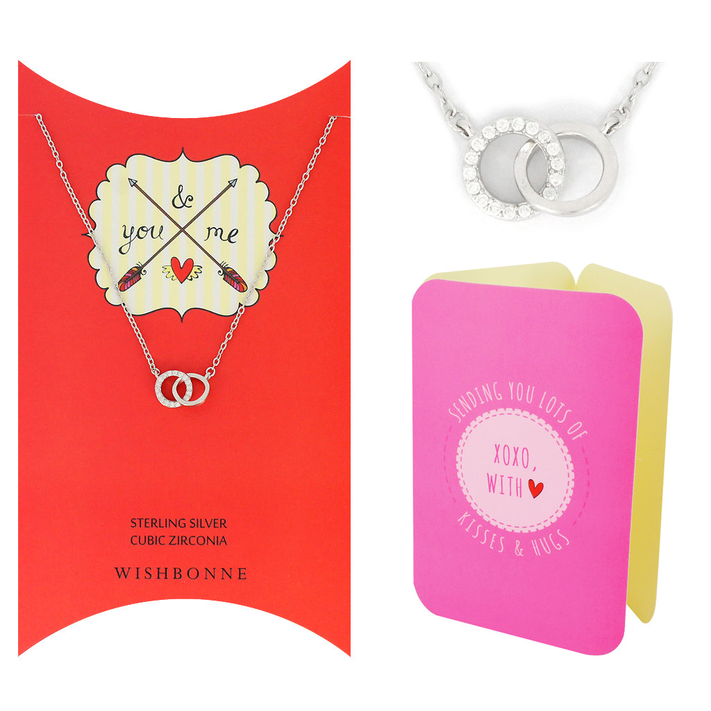 Perfect Gift for Loved One Double Link Necklace Message Card Included