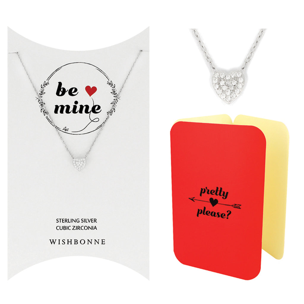 Perfect Gift for  Loved One Heart Necklace Message Card Included