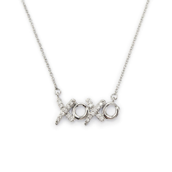 Sterling Silver XOXO Pendant Necklace