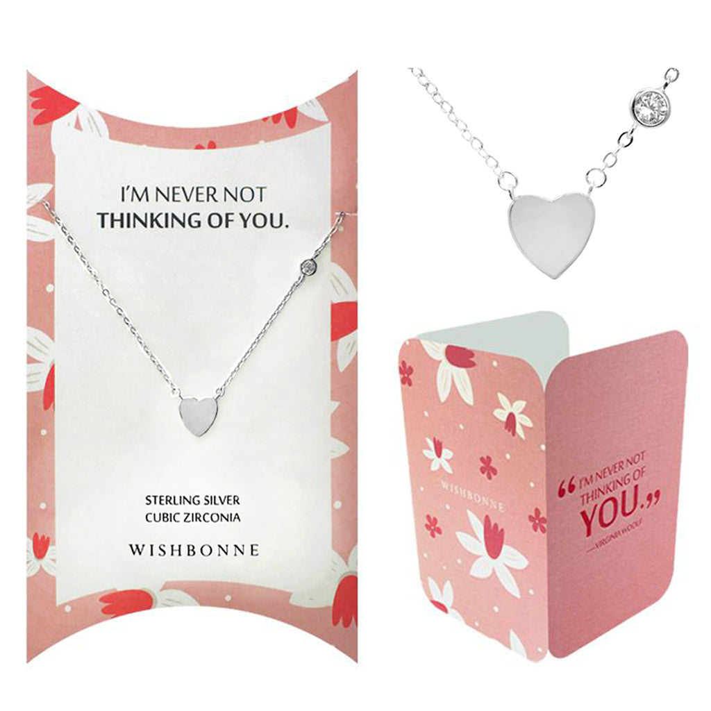 Perfect Gift for anyone Heart Pendant Necklace Message Card Included