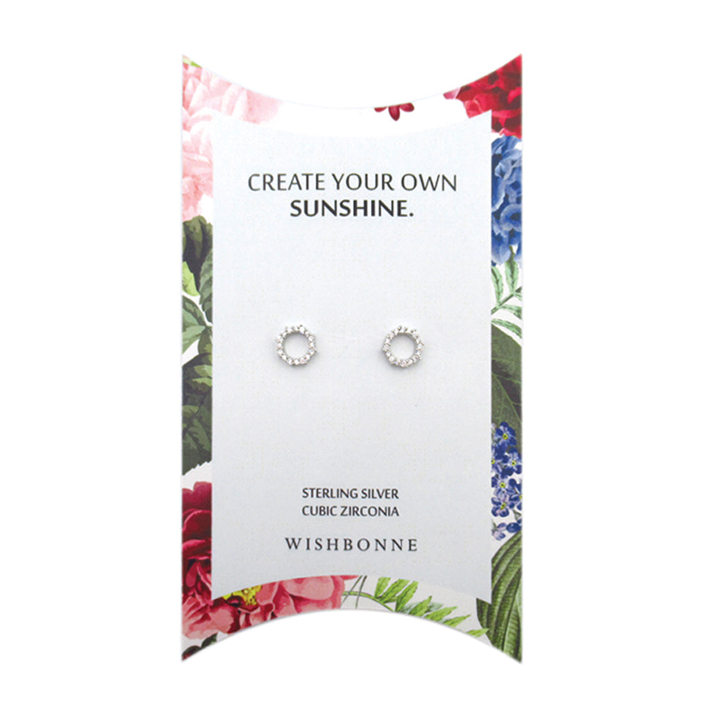 Perfect Gift for Anyone Hollow Circle Studs Message Card Included