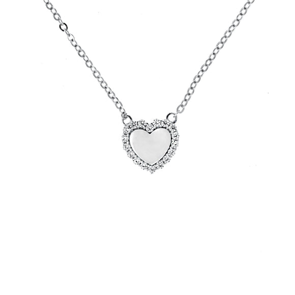 Perfect Gift for Anyone Halo Heart Necklace with Message Card Included