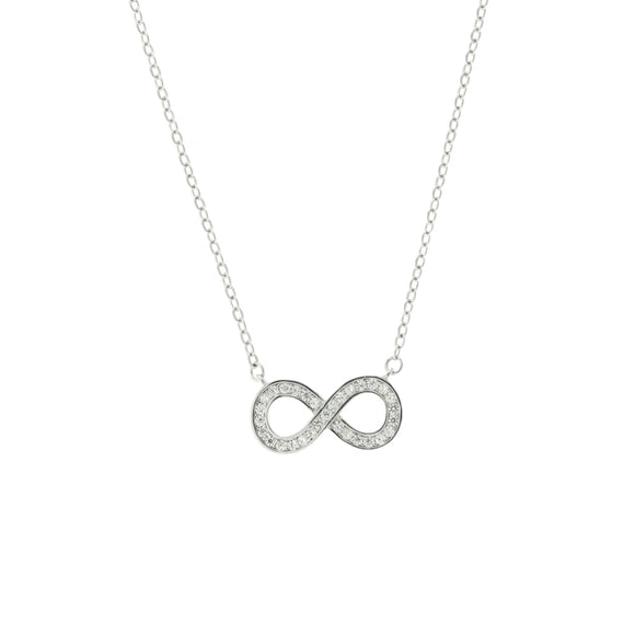 Perfect Gift for Anyone Infinity Link Pendant Necklace with Message Card Included