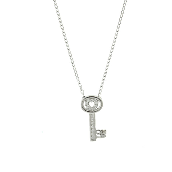 Perfect Gift for Anyone Love Key Necklace with Message Card Included