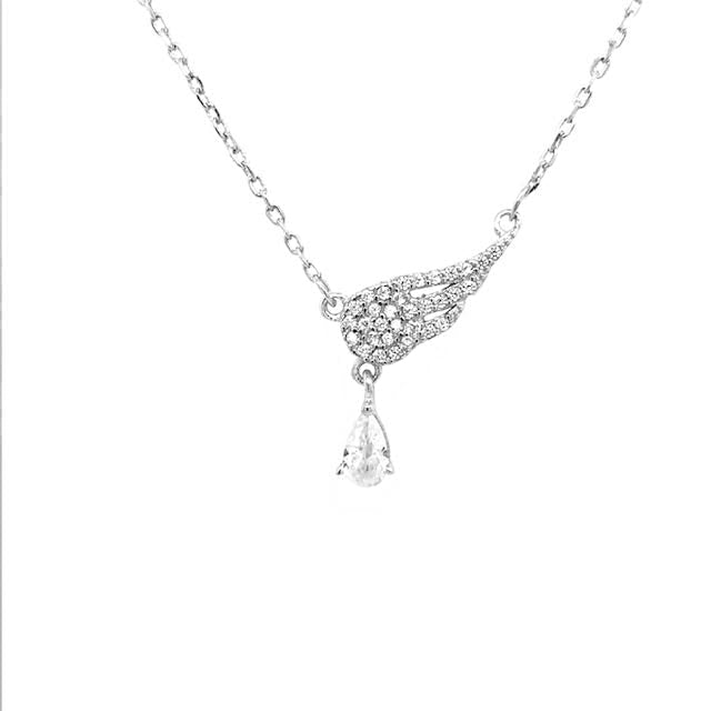 Perfect Gift for Anyone Pave Winged Necklace Message Card Included