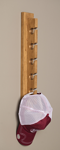 Handcrafted Hat Rack - Cherry