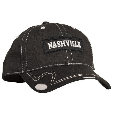 Nashville Frayed Patch - Black/Light Grey