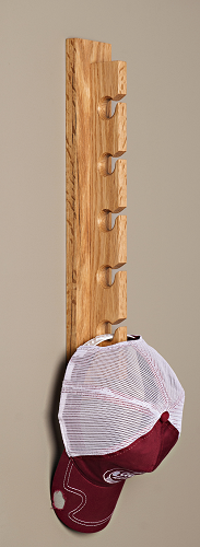 Handcrafted Hat Rack - Oak