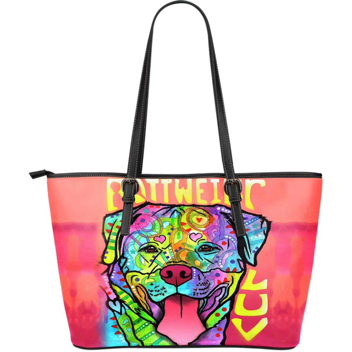 Rottweiler Series Leather Tote Bag (Large)