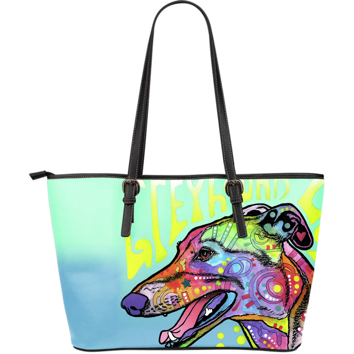 Greyhound Luv Leather Tote Bags (Large)