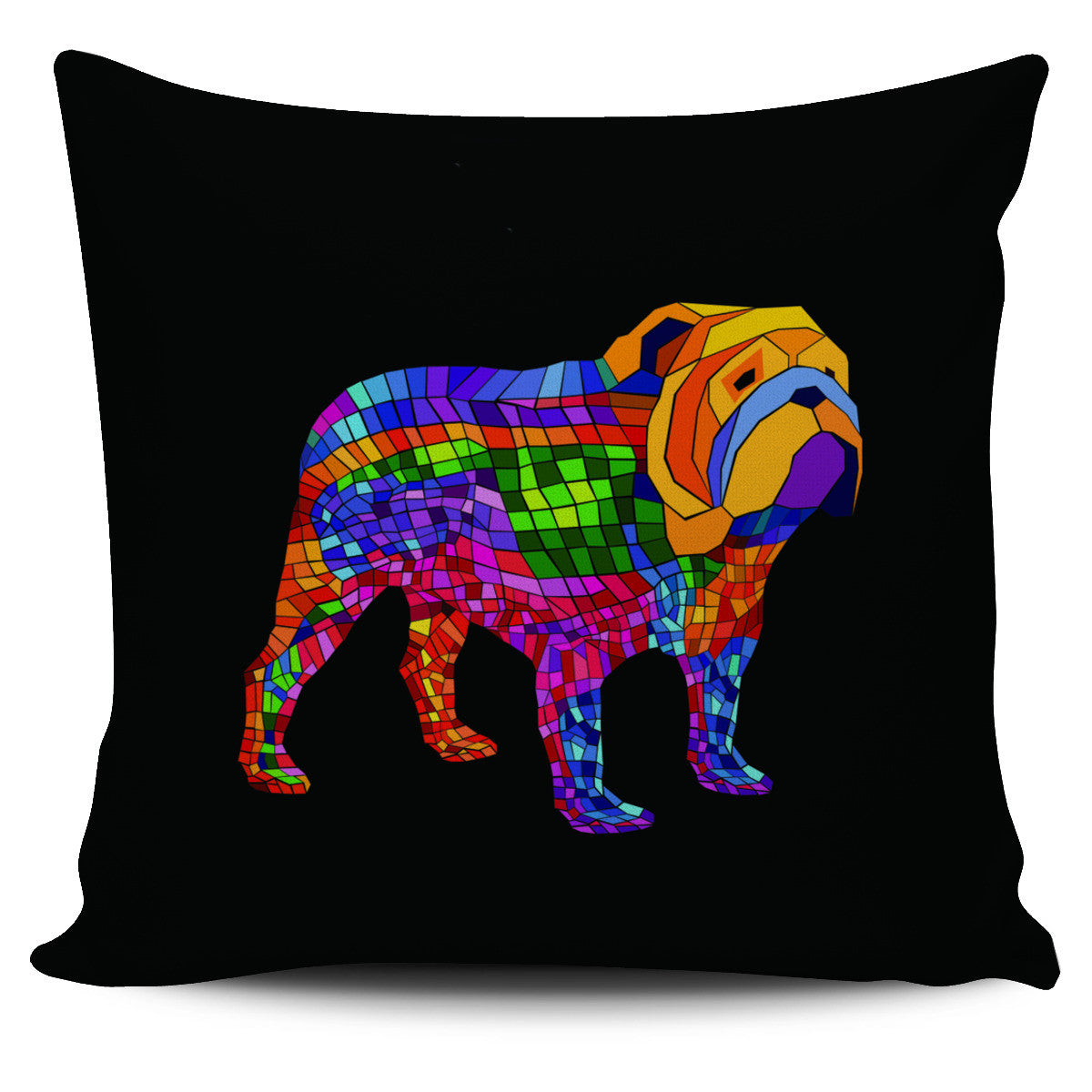 Color Bulldog Pillow Covers