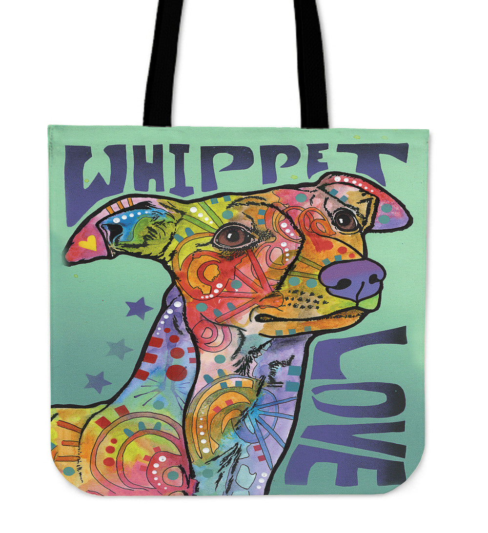 Whippet Love Tote Bags