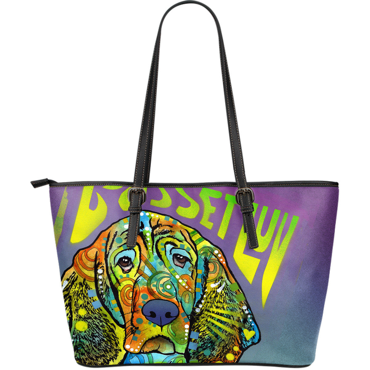 Basset Hound Leather Totes (Large)