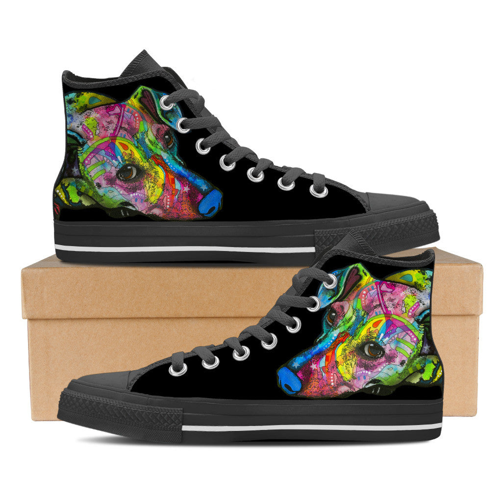 Dachshund Women's High Top Shoes (#2)