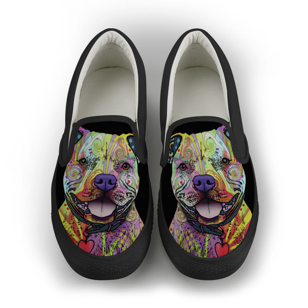 Pit Bull Womens Slip-On Shoes #1 (Black)