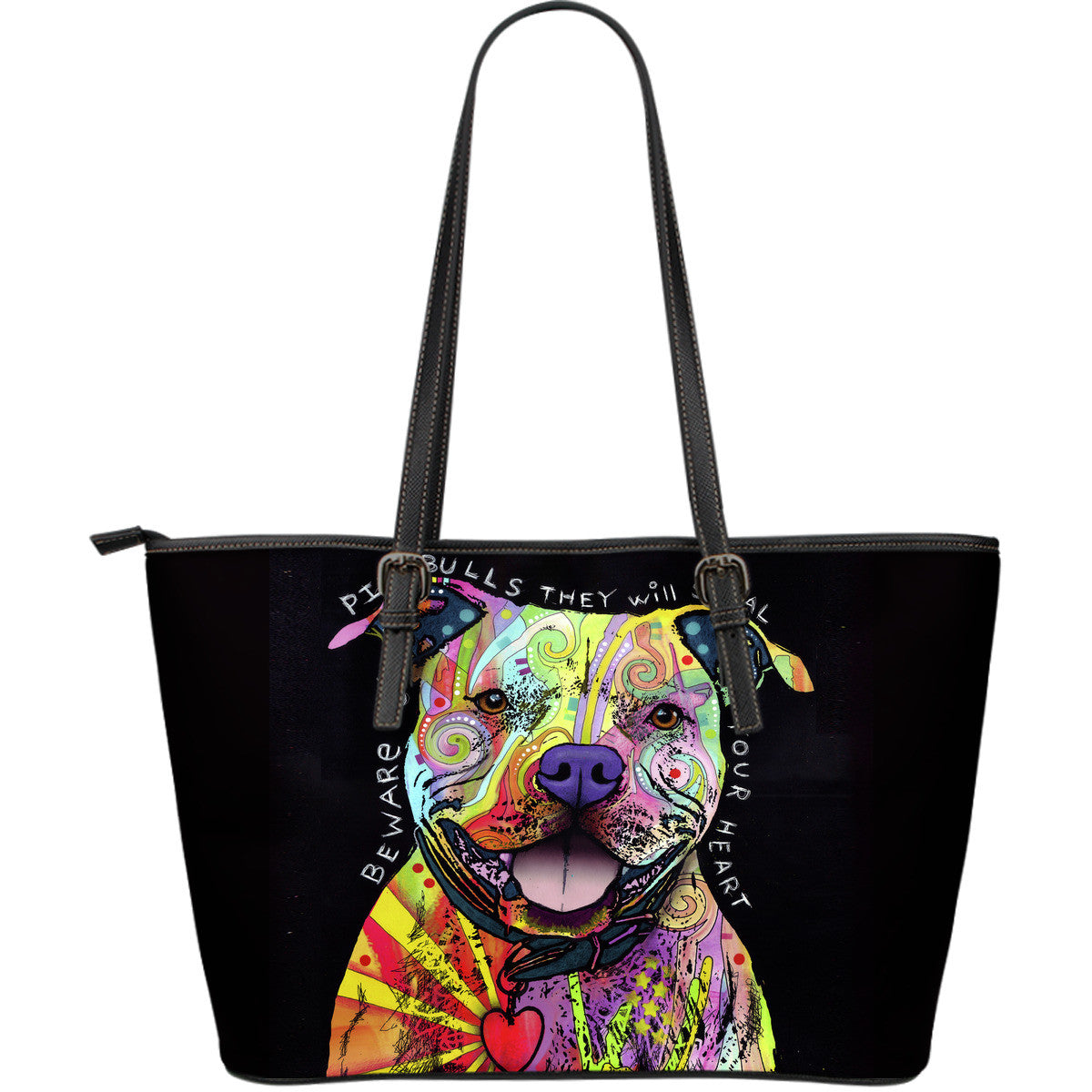 Pit Bull Leather Tote Bag (Large)