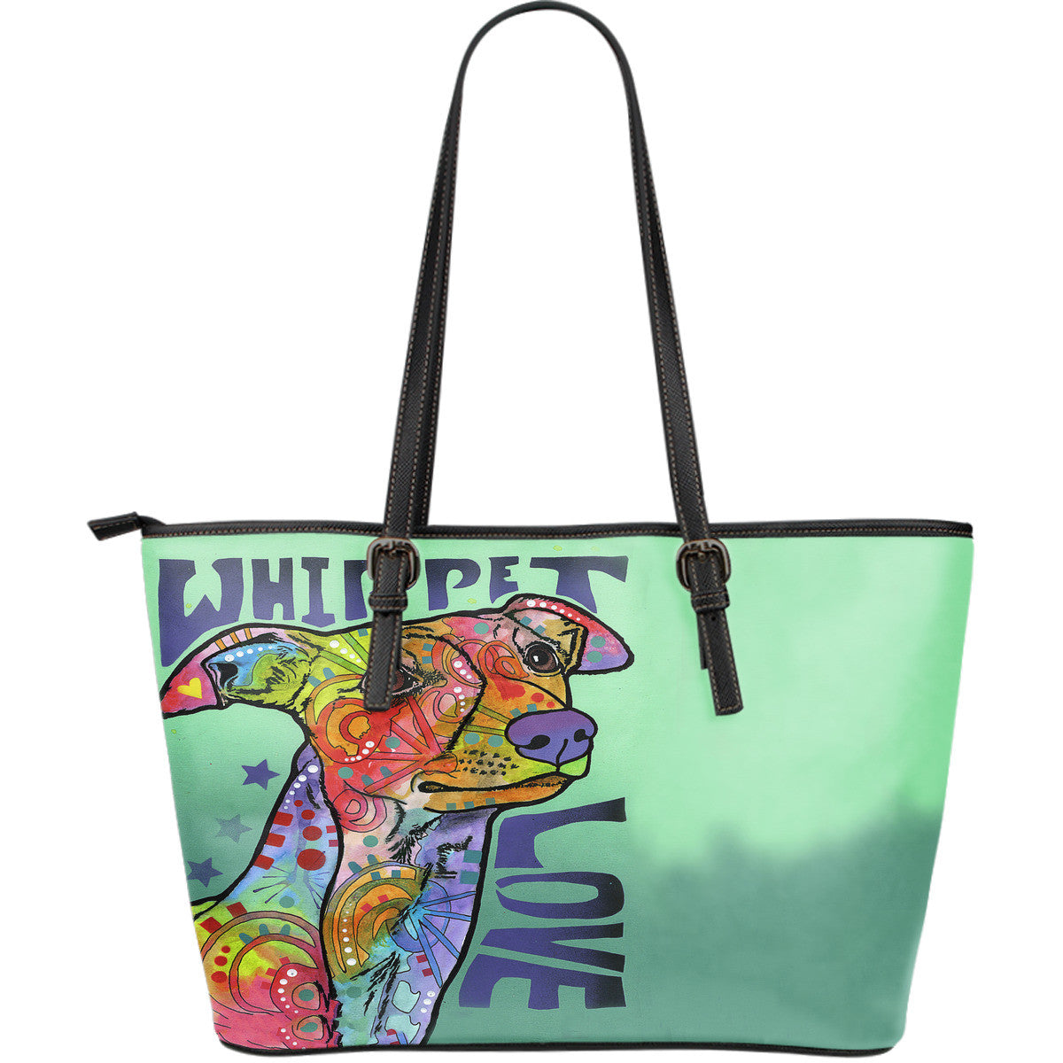 Whippet Love Leather Tote Bags (Large)