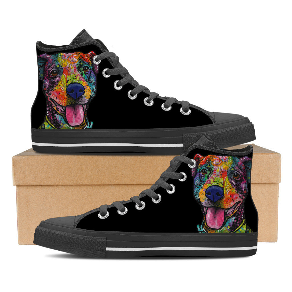 American Pit Bull Terrier Men's High Top Shoes