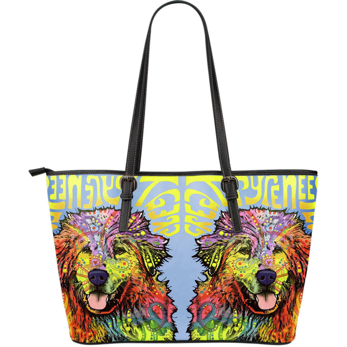 Great Pyrenees Leather Tote Bags (Large)