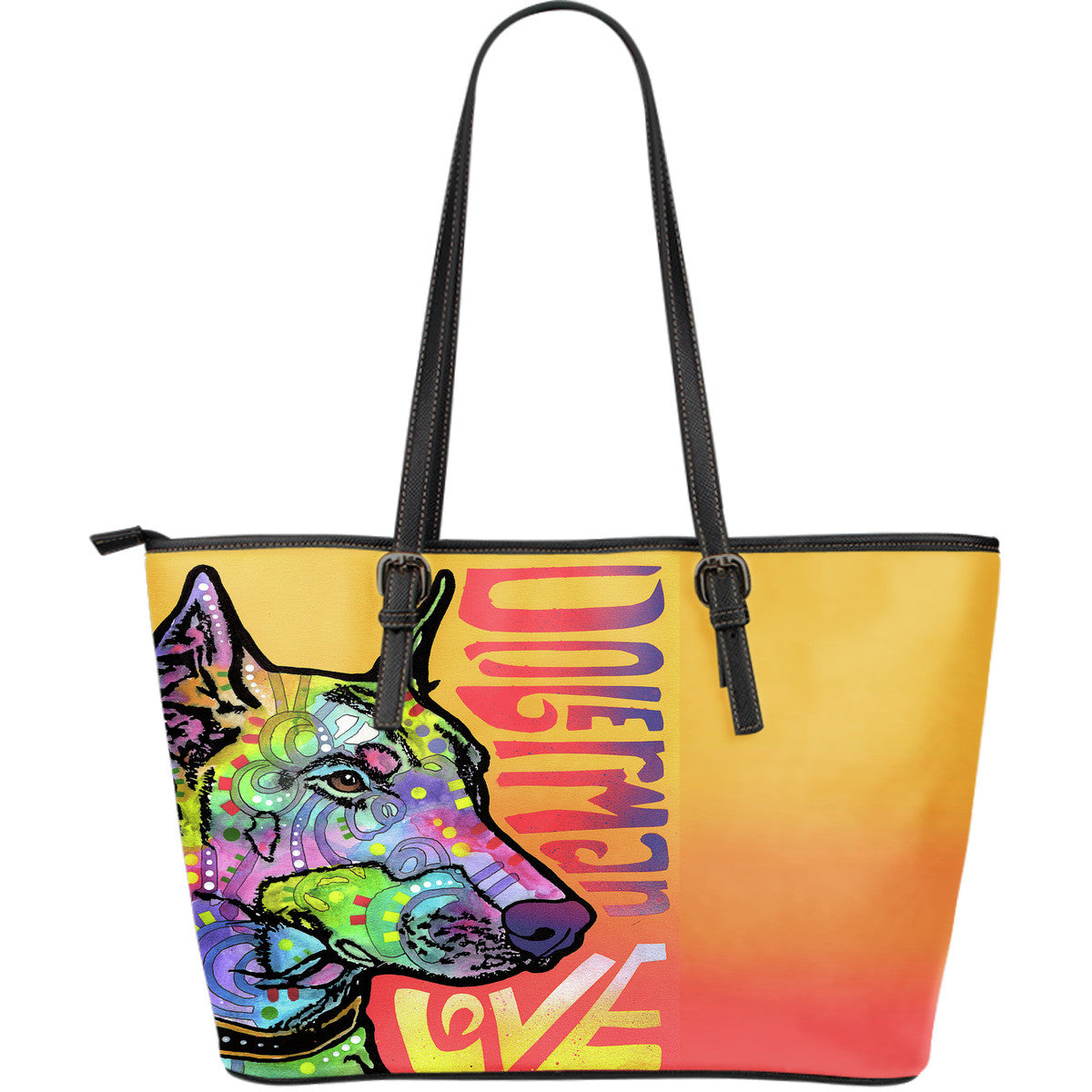 Doberman Love Leather Totes (Large)