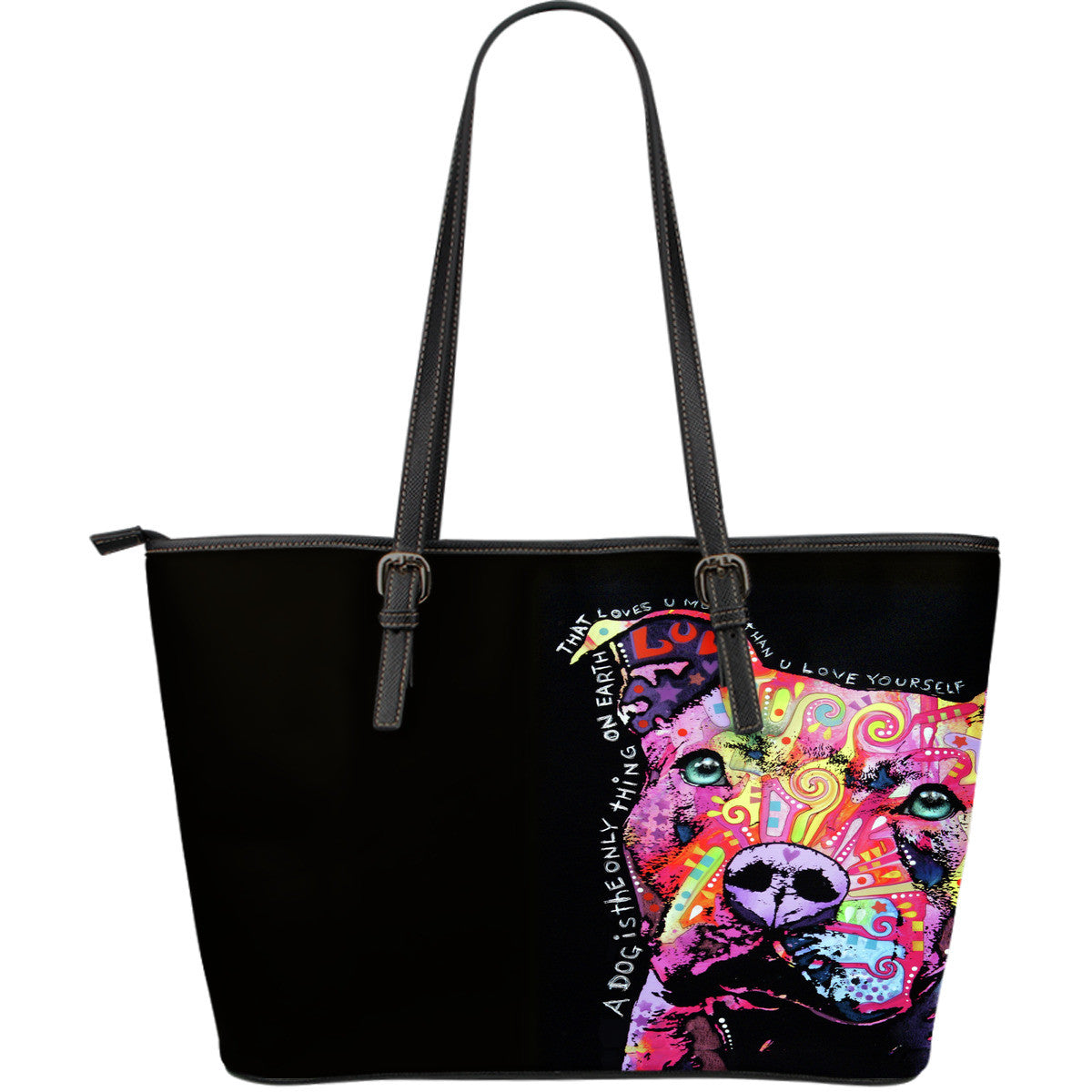 Pit Bull Series III Leather Tote Bag (Large)