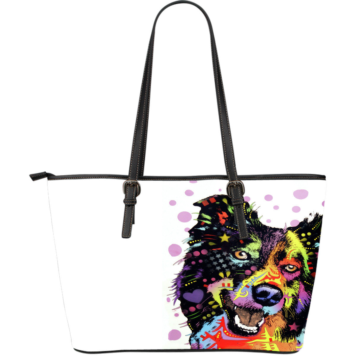 Collie Shepherd Leather Totes (Large)