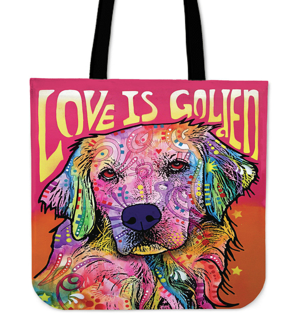 Golden Retriever Series Tote Bag