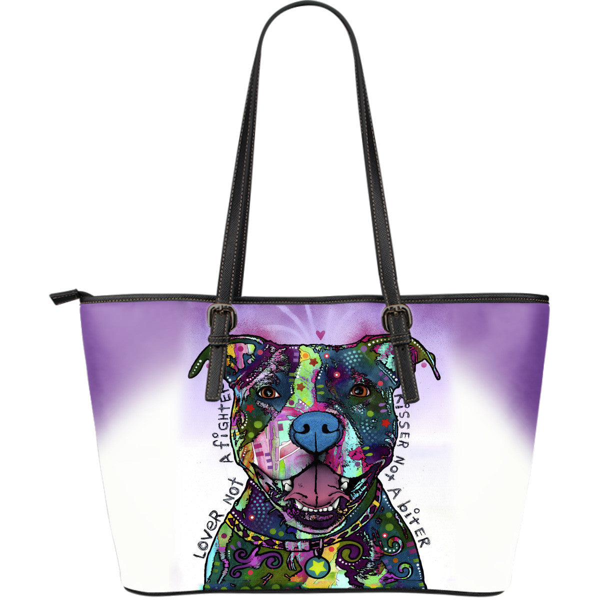 Pit Bull Series Leather Tote Bag (Large)