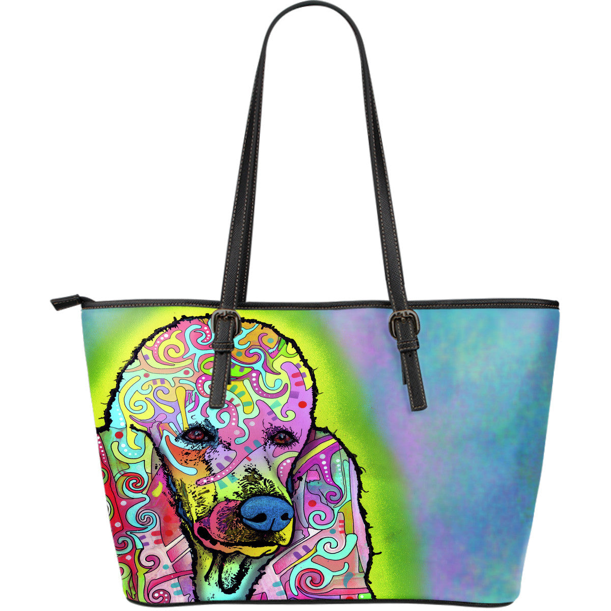 Poodle Leather Tote Bags (Large)