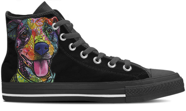 American Pit Bull Terrier Women's High Top Shoes