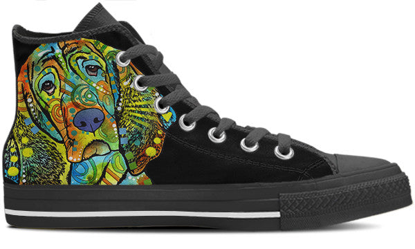 Basset Hound Men's High Top Shoes