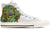 Basset Hound Women's High Top Shoes (WHITE)