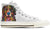 Bernese Mountain Dog Women's High Top Shoes (WHITE)
