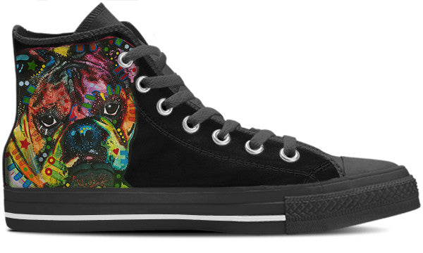 Bulldog Men's High Top Shoes (#2)